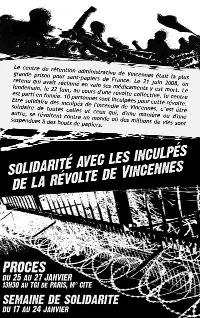 Semaine de Solidarité avec les inculpés de Vincennes Affiche2-c6990